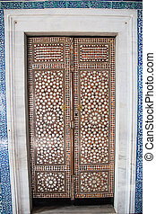 Topkapi Palace - Door of a Room in Topkapi Palace, Istanbul,...