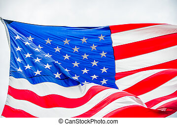 red white and blue american flag
