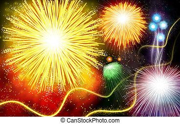 Firework - Hand drawing Firework