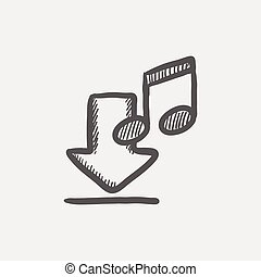 Download music sketch icon