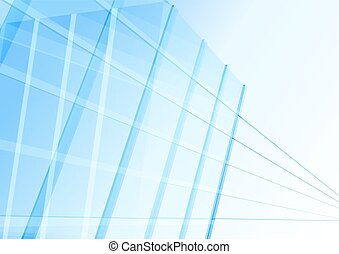 Abstract building from the lines Vector illustration