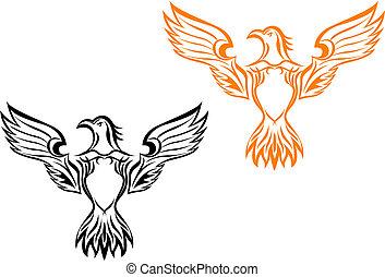 Eagle tattoo - Eagle head as a mascot or tattoo