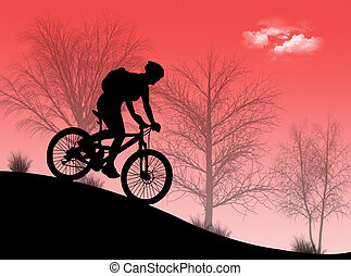 Mountain Bike - Mountain bike in the nature in a wonderful...