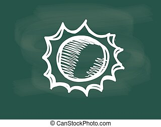 Vector of the sun drawing