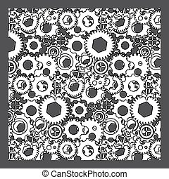 seamless white gear pattern
