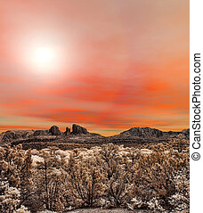 Sedona Arizona Sunrise - Sunrise at Red Rock country...