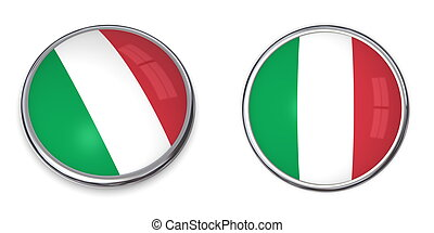 Banner Button Italy - button style banner in 3D of Italy