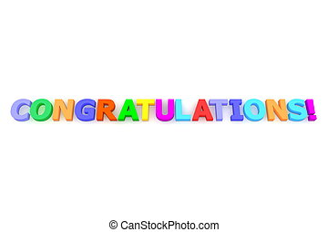 Colourful Congratulations - multicoloured letters...