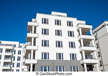 White apartment houses in Berlin - New white apartment...