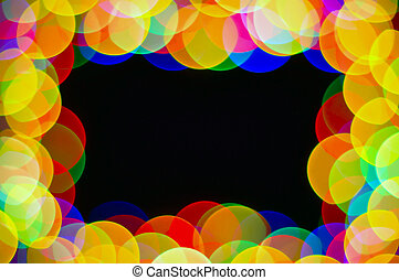 celebration frame - light spot frame on black