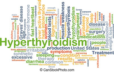 Hyperthyroidism background concept - Background concept...