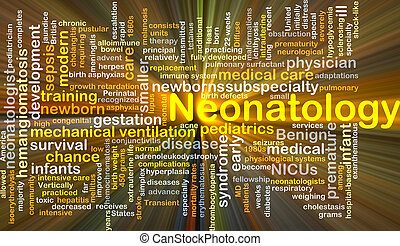 Neonatology background concept glowing - Background concept...