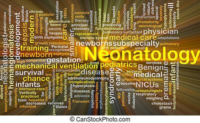 neonatology, Plano de fondo, concepto, encendido,