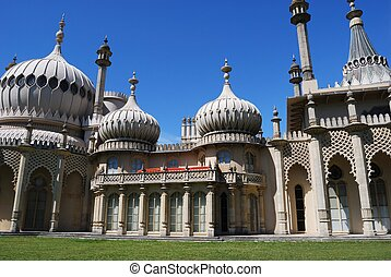 Brighton Royal Pavilion. - View of the Royal Pavilion,...