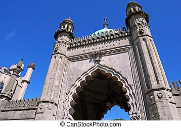 Brighton Royal Pavilion Archway. - Archway in the Royal...