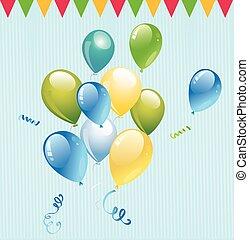 party balloon, balloon vector, balloon, celebrate