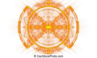 Sleeping sun With Alpha channel - HD abstract fractal art...