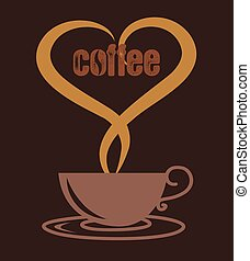 love coffee cup, coffee cup vector