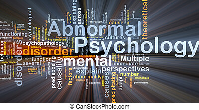 Abnormal psychology background concept glowing light
