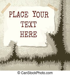 Copy text template isolated on textured grunge background
