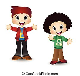 Boys Kids Vector for your design