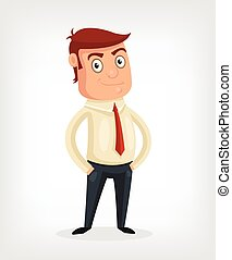 Vector businessman flat cartoon illustration