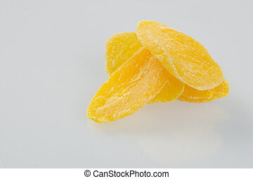Dried Mango slices on background - Dried Mango slices on the...