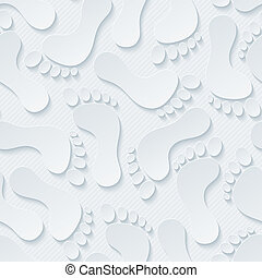 huellas, 3D, seamless, wallpaper.,