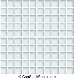 Light gray graph paper. 3d seamless background. Vector...