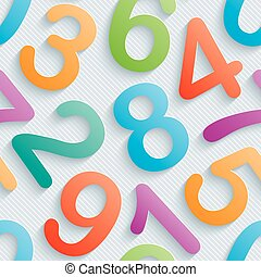 Colorful numbers wallpaper.