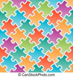 Colorful jigsaw puzzles.