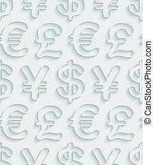 Dark gray currency symbols wallpaper.