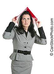 Businesswoman teacher woman busy upset