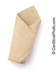 folded napkin isolated on white background