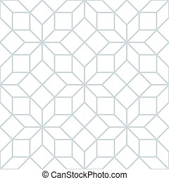 Vector seamless soft white geometric trellis tracery pattern