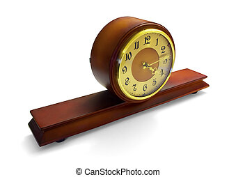 antique mantle clock - Mahogany antique mantle clock...