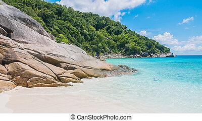Similan island and beautiful tropical beach at andaman sea...