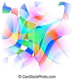 Abstract colorful background frame