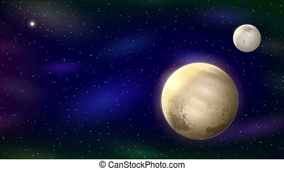 Planet Pluto, Seamless Loop - Fullhd 1920x1080 Progressive...