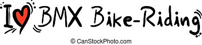 BMX Bike riding love - Creative design of BMX Bike riding...