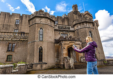Tourists visit Dunvegan Castle