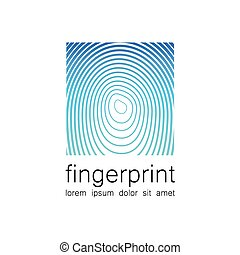 fingerprint logo - Fingerprint - the template for a logo...