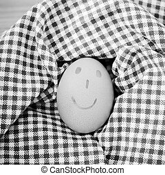 smile egg black and white color tone style - smile love egg...