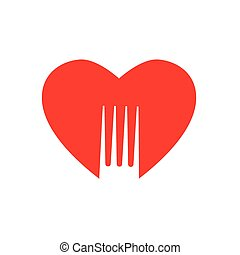 lovely food logo template - Lovely food - template logo for...