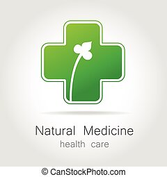 natural medicine logo - Natural medicine - a sign of eco bio...