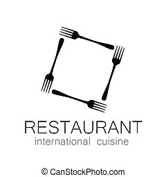 lovely food logo template