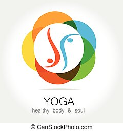 yoga health body soul - Yoga - template logo. Sign of yoga...