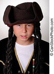 Pirate Boy - Young boy wearing a pirate\'s costume