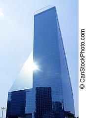 Dallas downtown city mirror skyscraper buildings