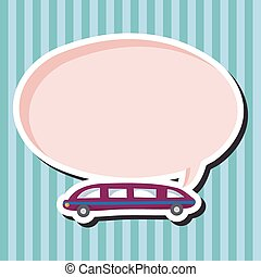 transportation limo theme elements vector,eps
